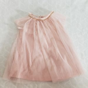 3/$15 Pink Tulle Dress with Gold Accents Size 12M